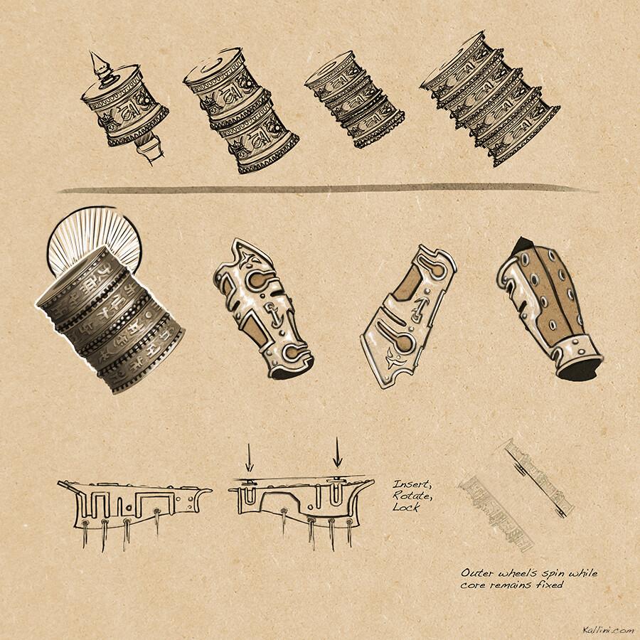 Akhash's Wheel - Prop Concept Sketch