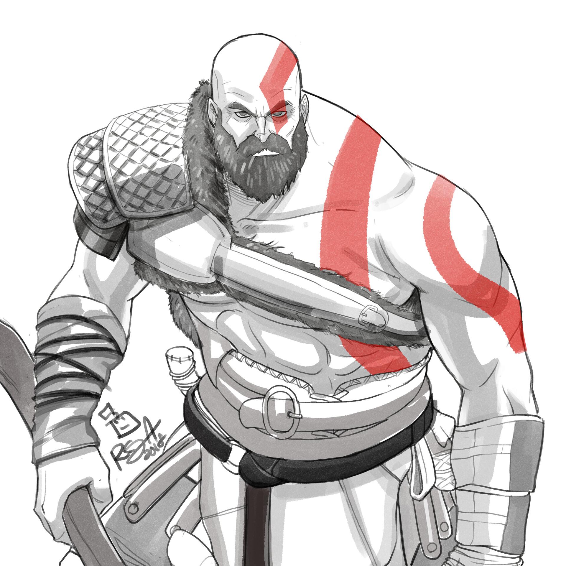 Artstation Kratos From God Of War 4 Rezarly Musa