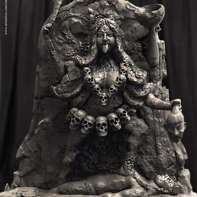 Surajit sen mahakaali digital sculpture surajitsen aug2019