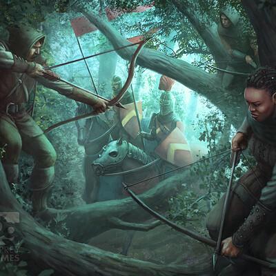 John mccambridge 02 forest ambush1 print