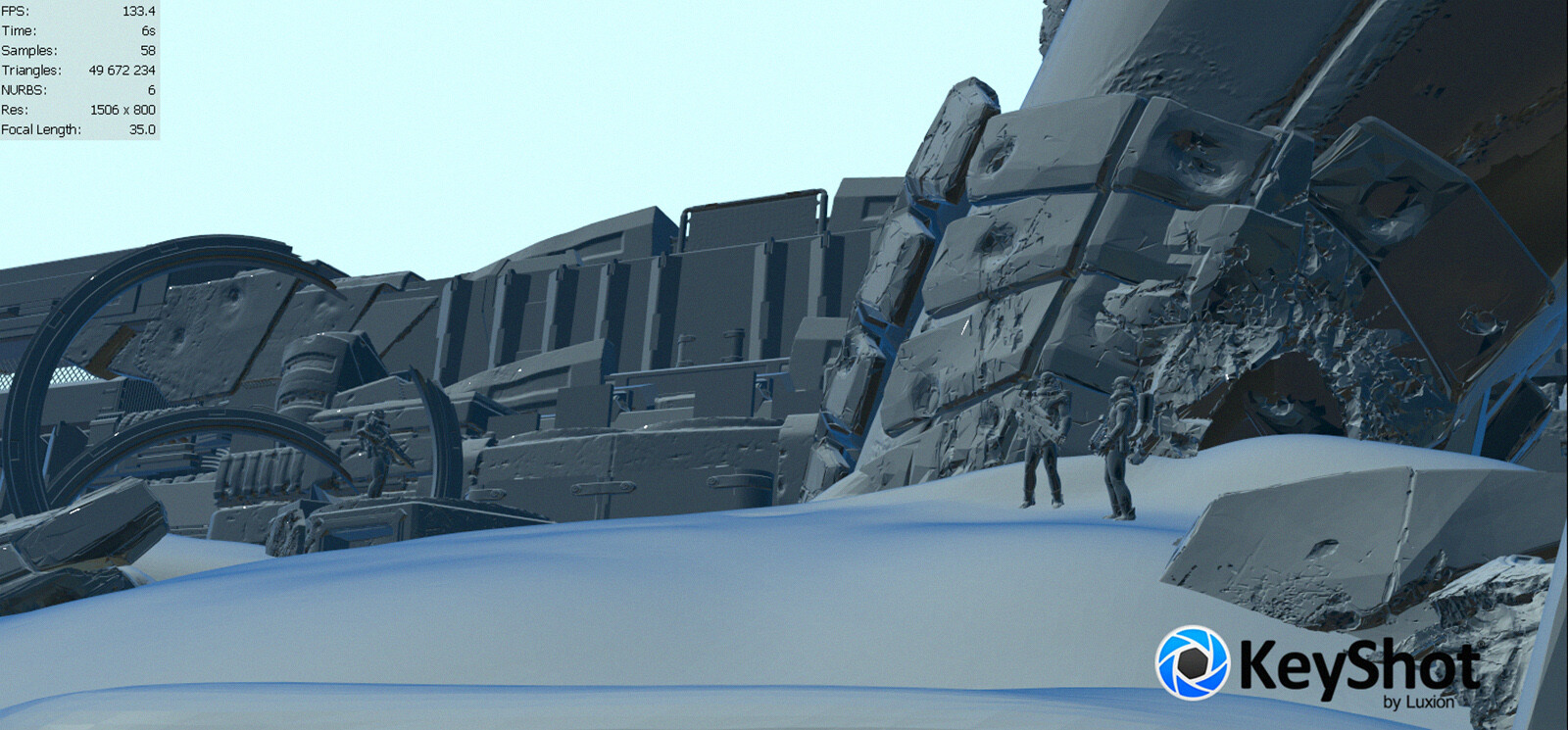 Base scene in Keyshot. Keyshot is an incredible program for concept artists.We are waiting for new release Keyshot 9.