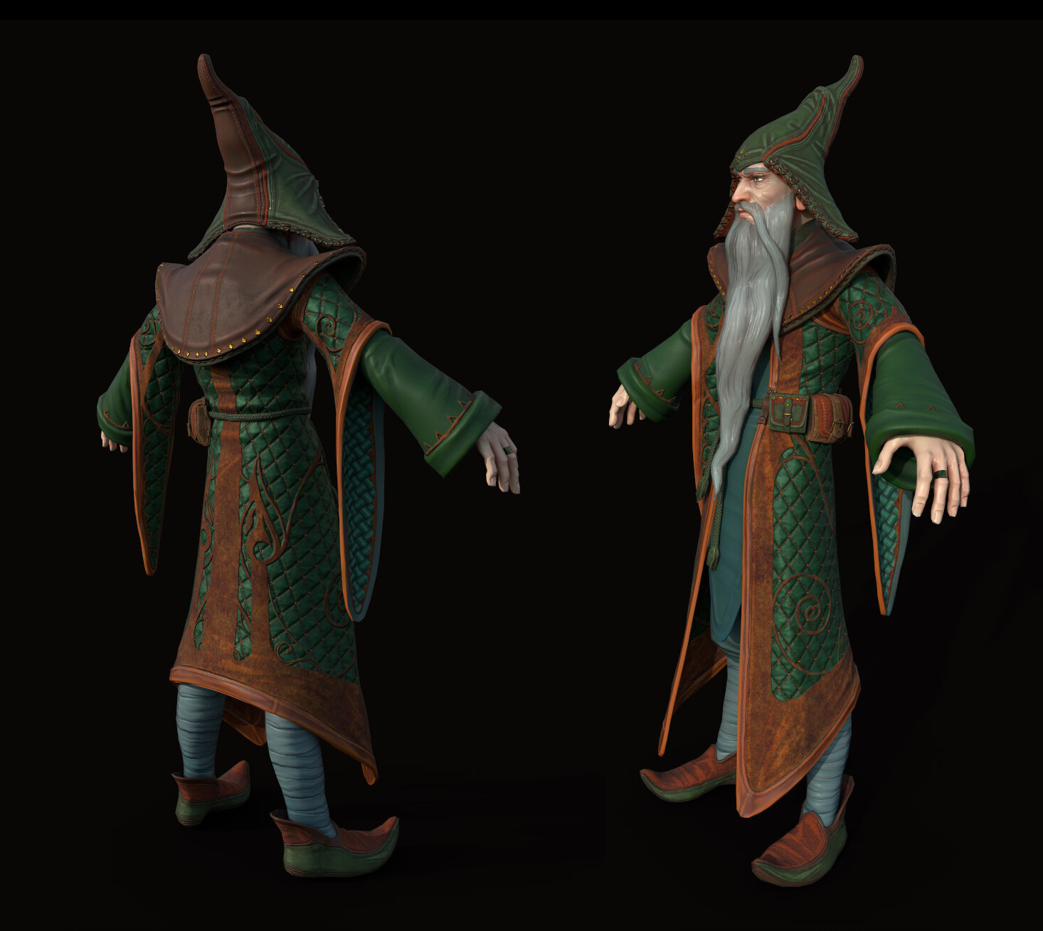 Game Character Art (real-time) ~ChallengesThe Legend of King Arthur~ Merlin