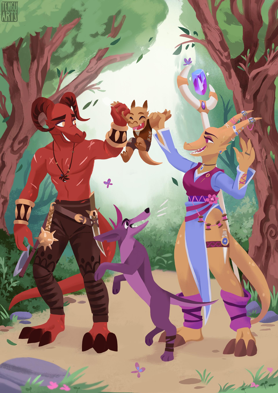Tengu arts dnd dragonborn art internets