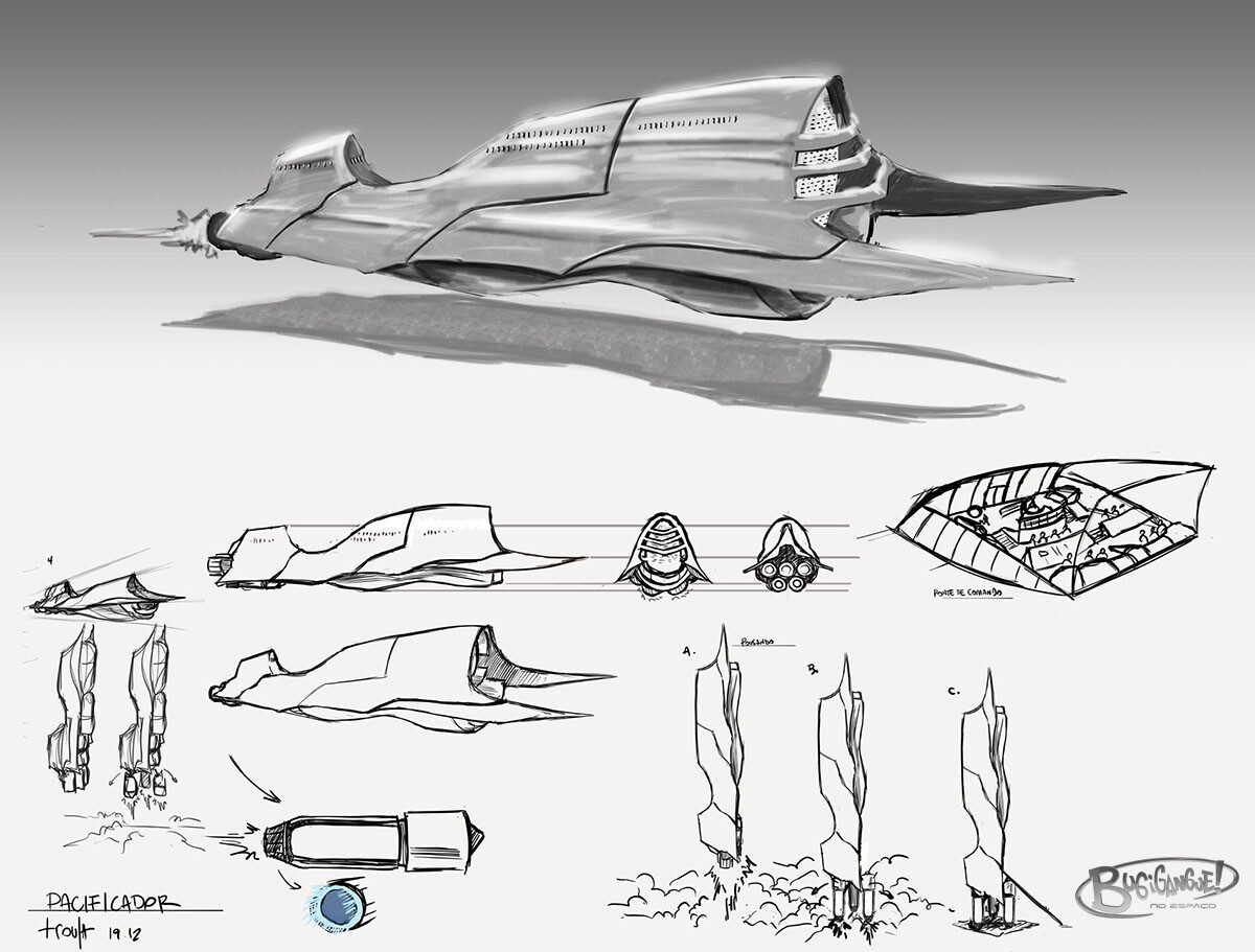 Gadgetgang in Space Concept Art