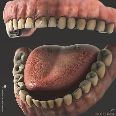 Surajit sen human mouth cg surajitsen digital sculpture aug2019 u
