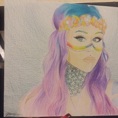 Mariah young color pencils