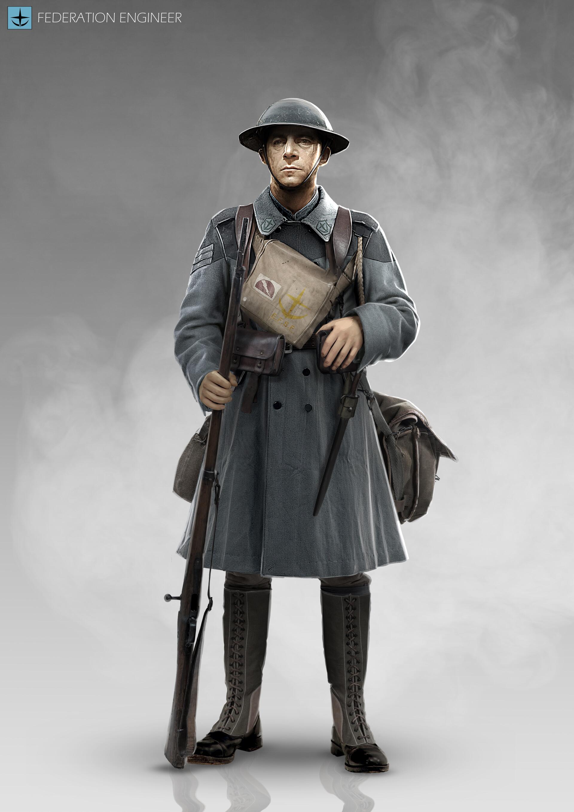 Charles Lin - Gundam 1919 - Federation Soldier