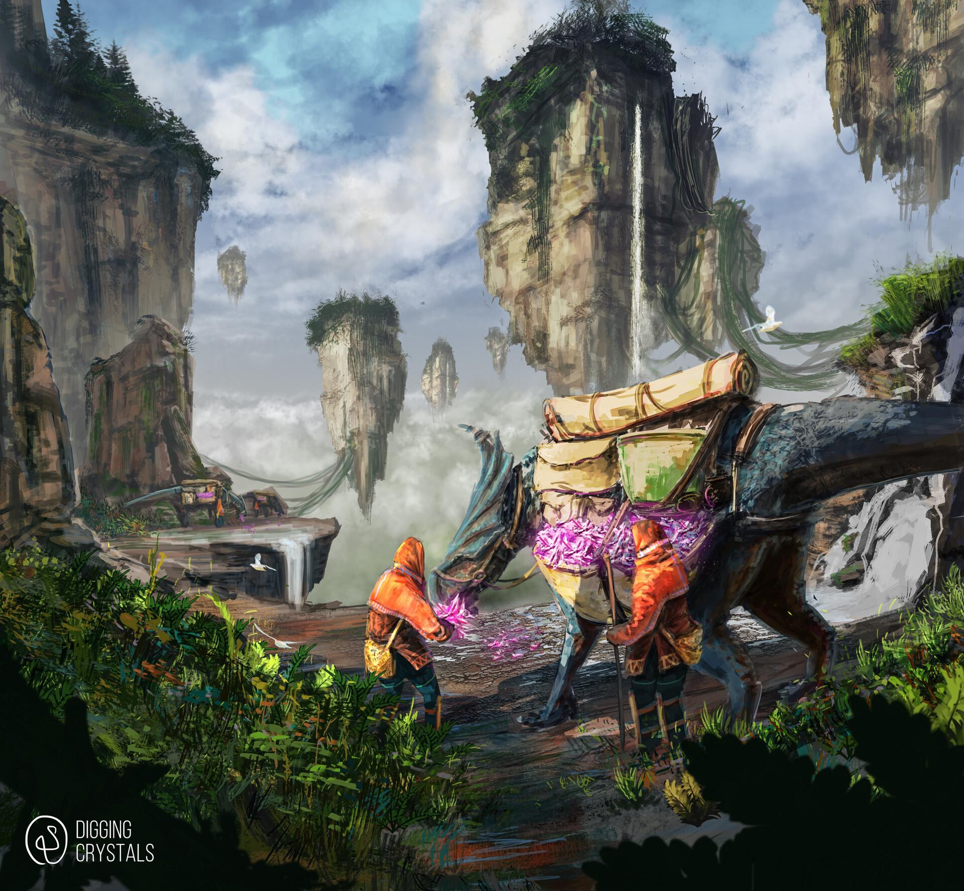 ArtStation - Digging Crystals, Rai Serrano