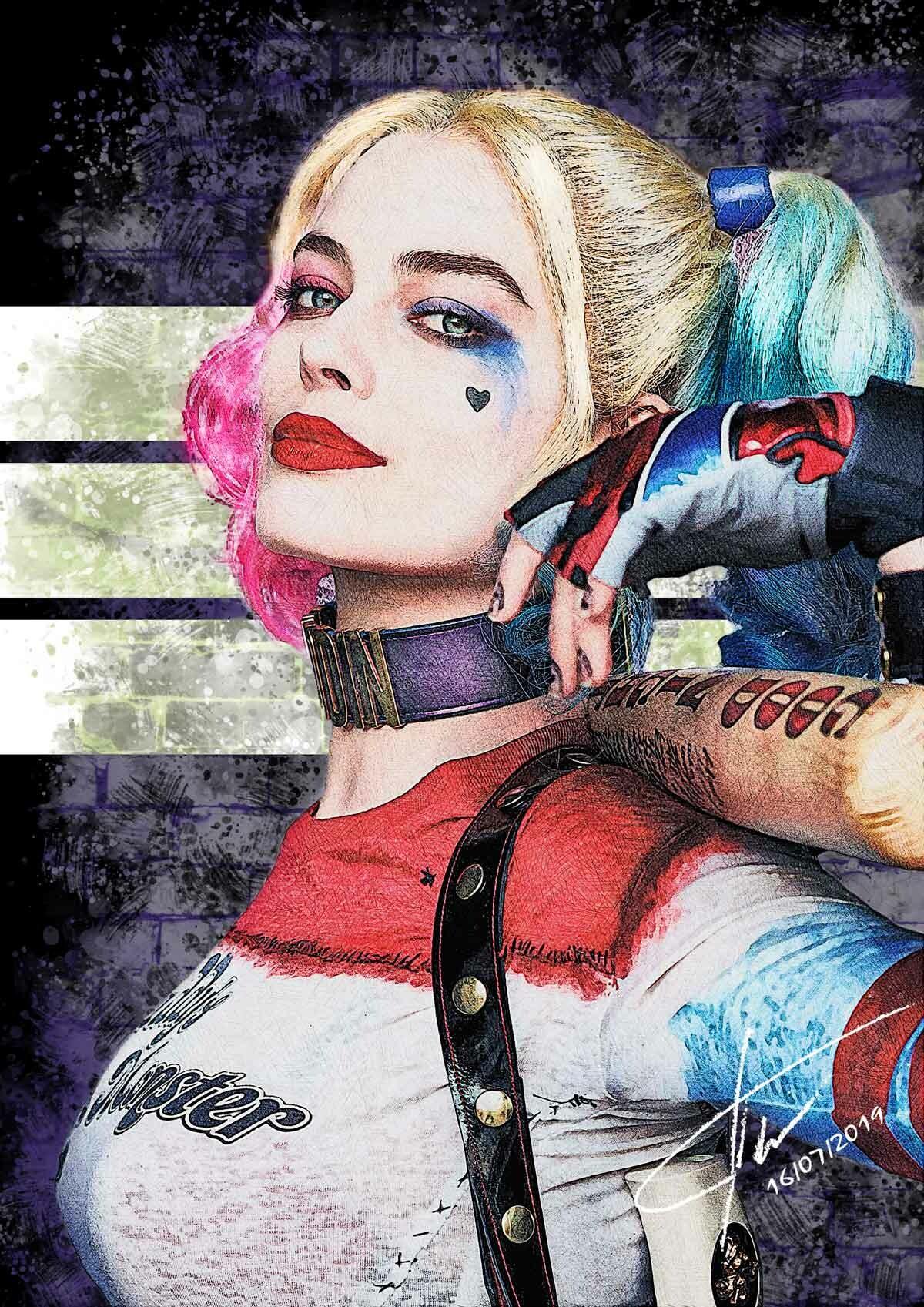 Glauco De Bellis Harley Quinn Margot Robbie