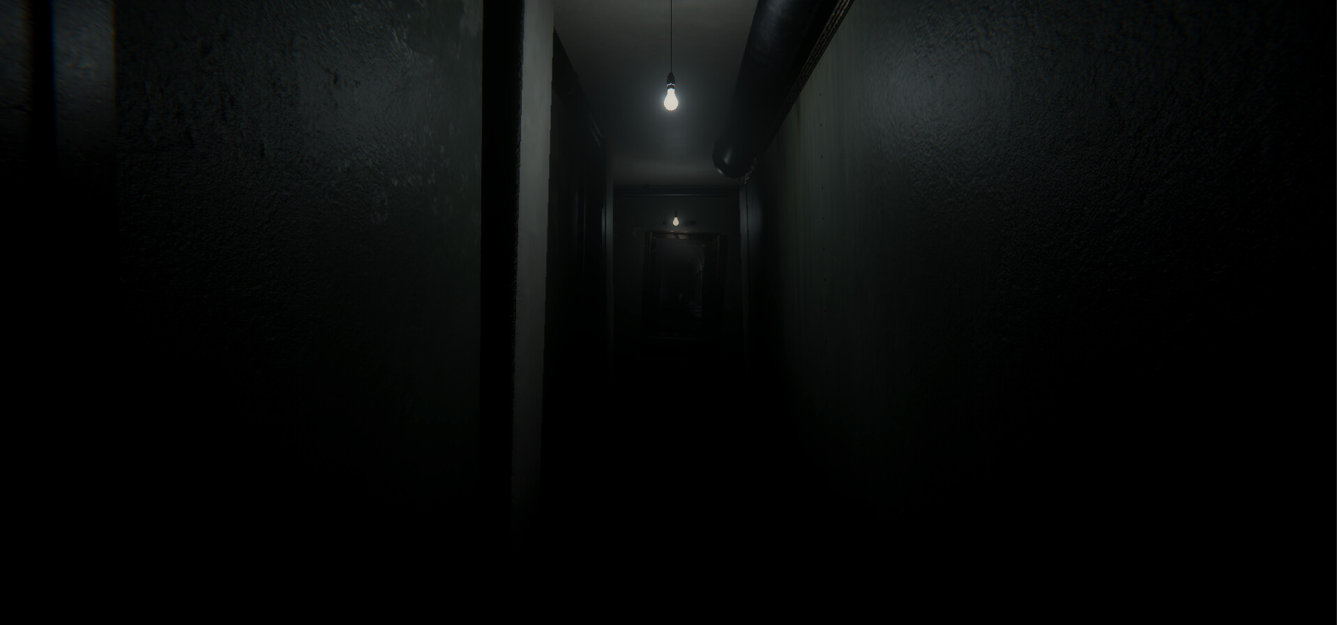 This is the corridor in another loop with a creepier mood.