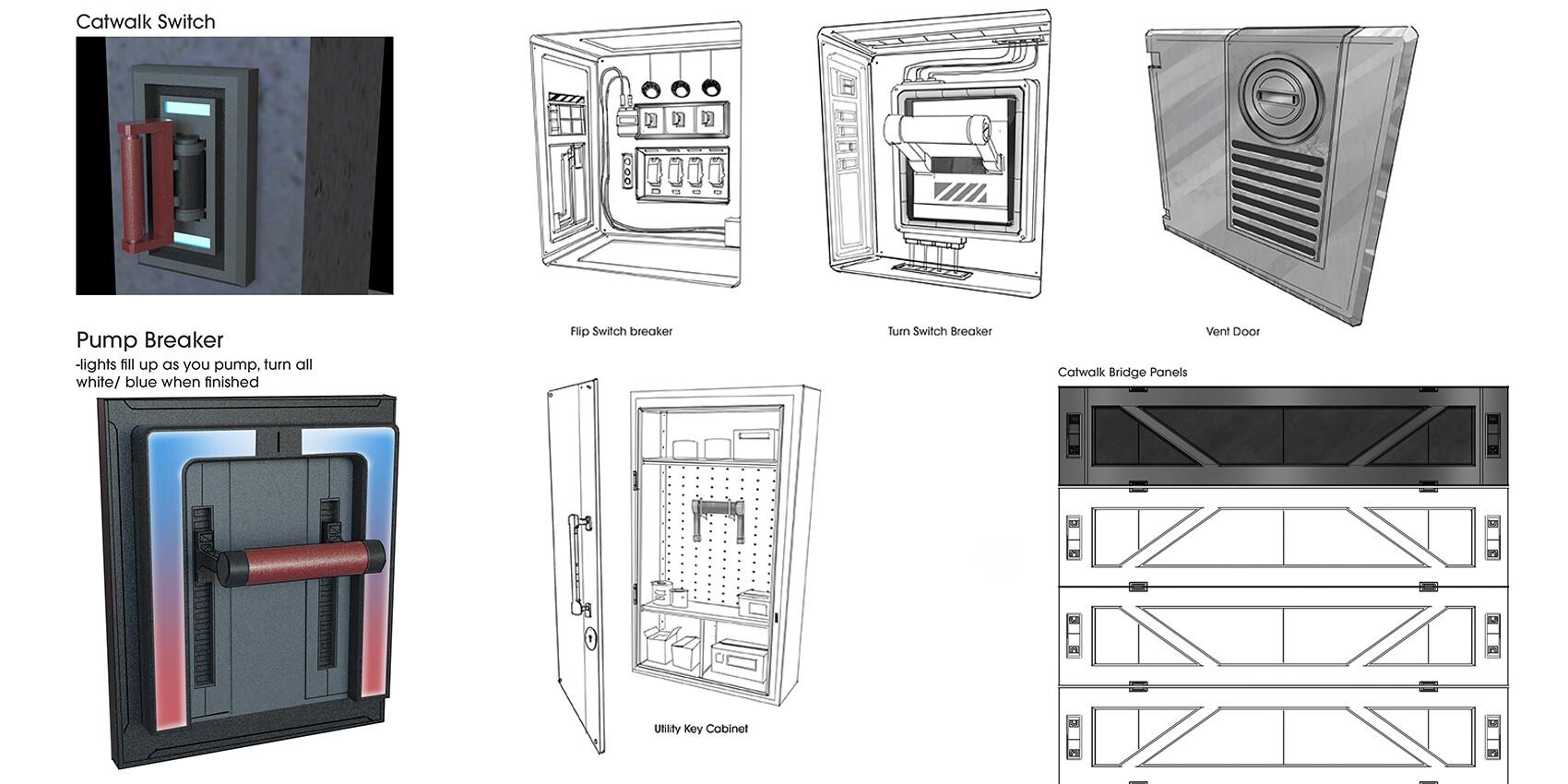 Brian higgins panel sketches