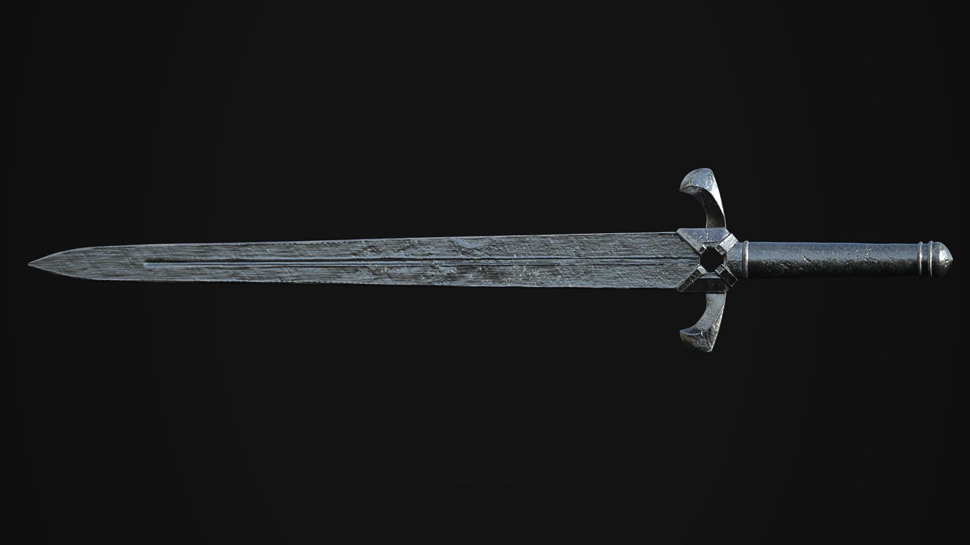 Chien jarvis clay render sword chien jarvis