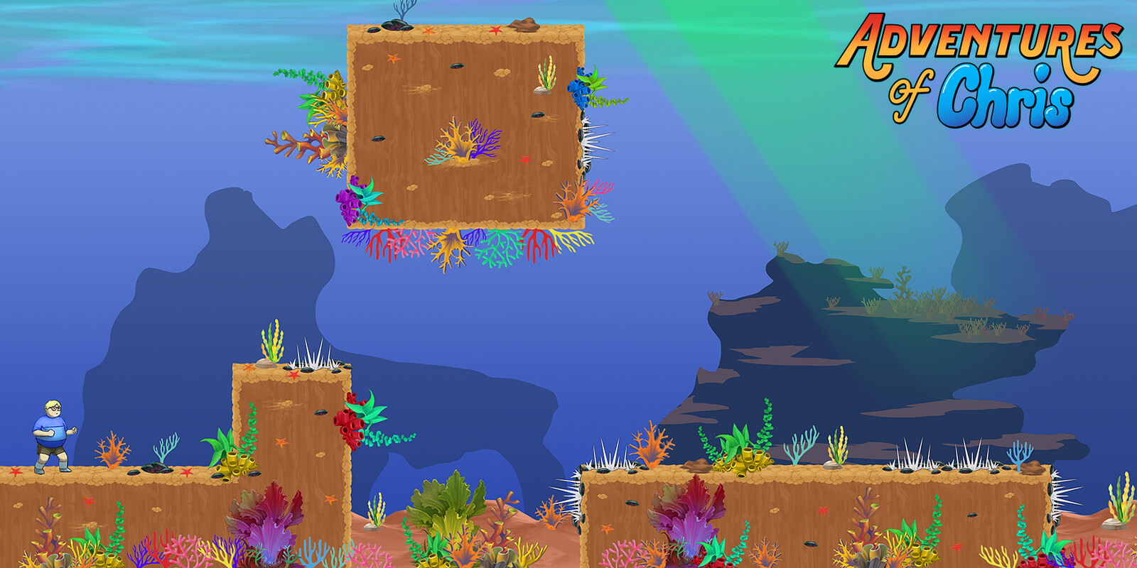 Underwater BG mockup with exported assets.