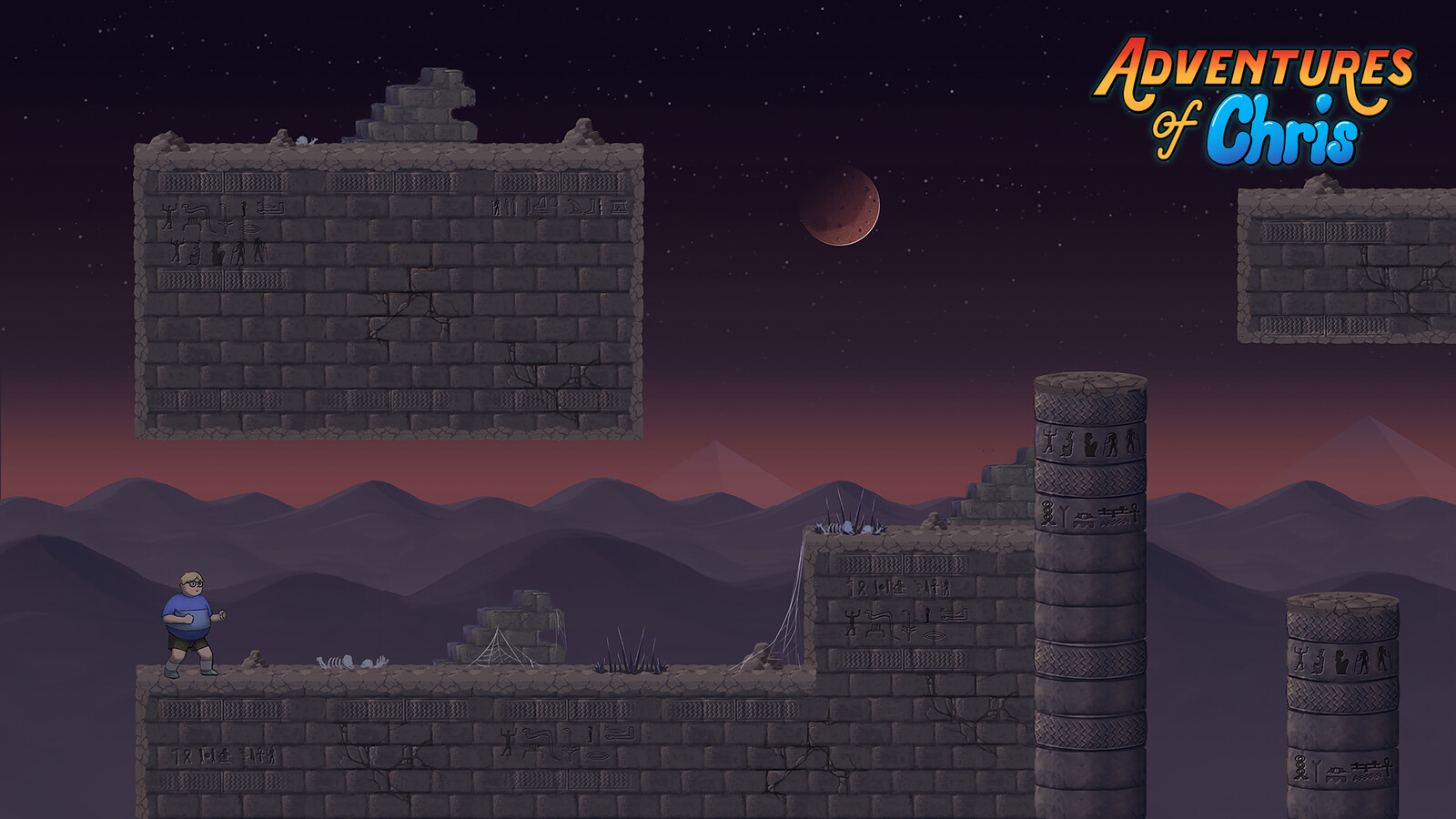 Egypt outdoors BG mockup with exported assets.