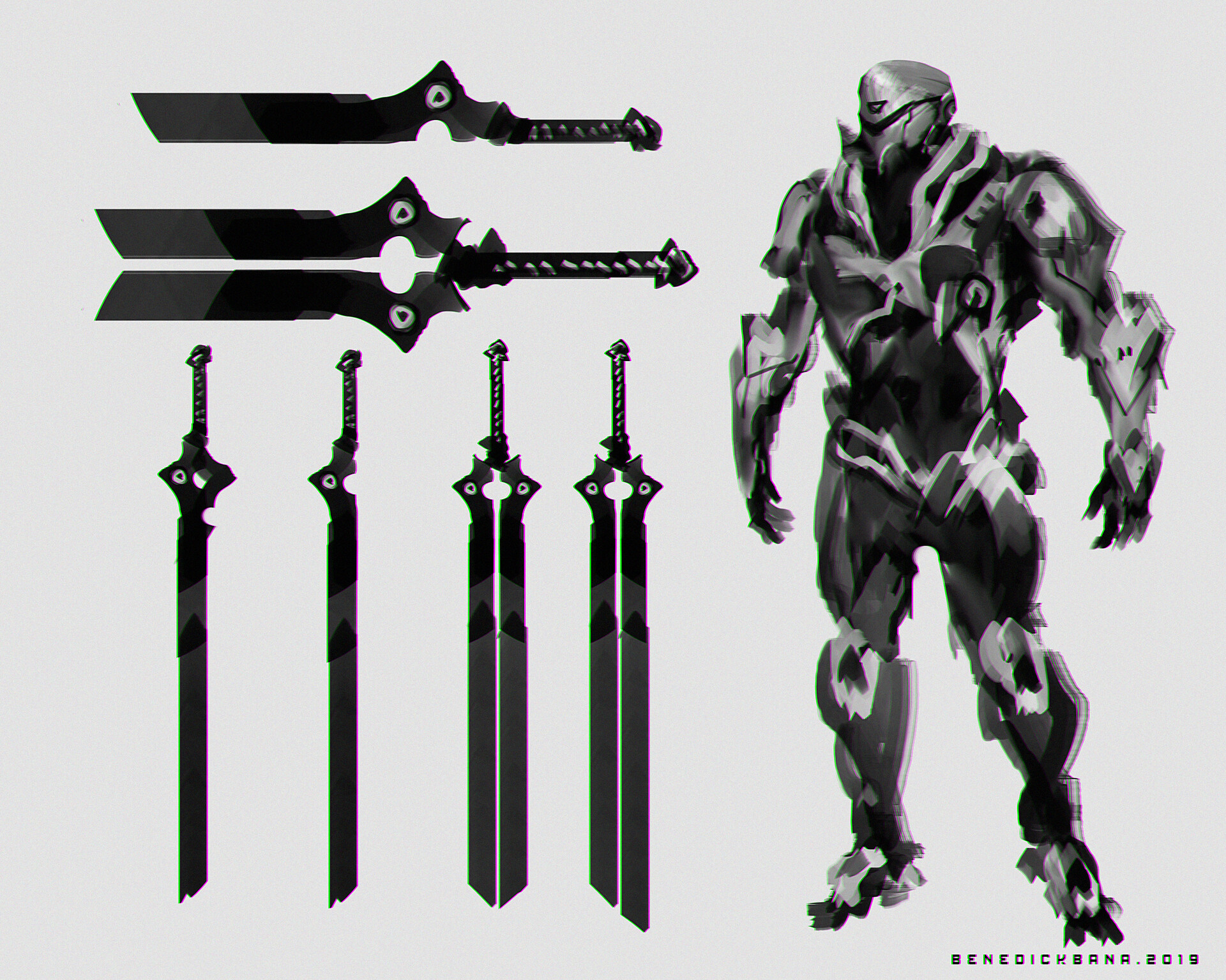 HAVOK CHARACTER DESIGN with BLADE Weapon variant