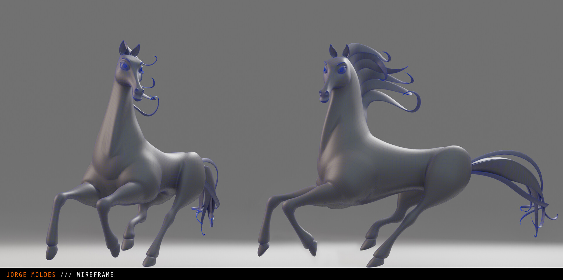 Artstation Cartoon 3d Horse Jorda Moldes