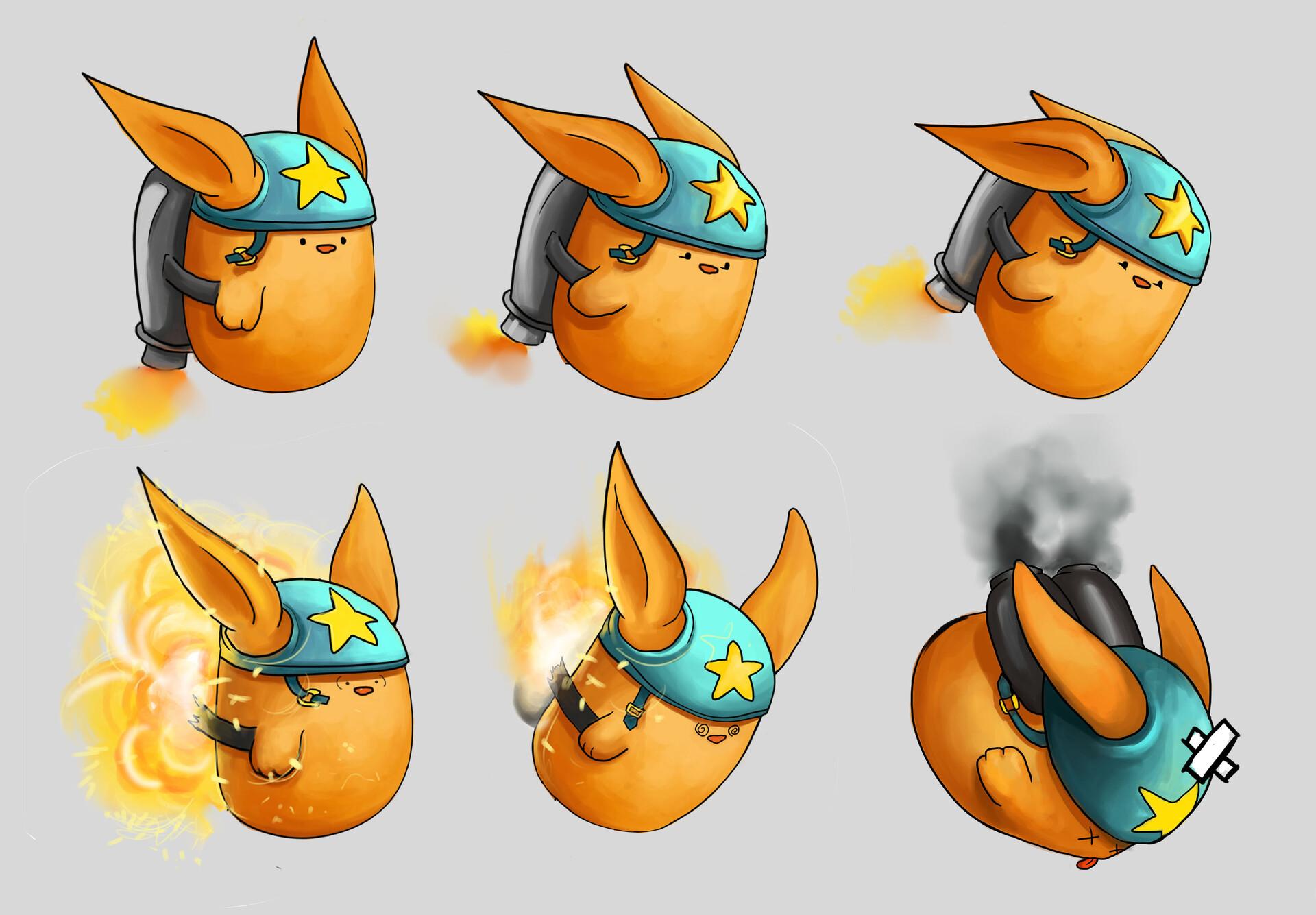Shellz art piff animation concepts