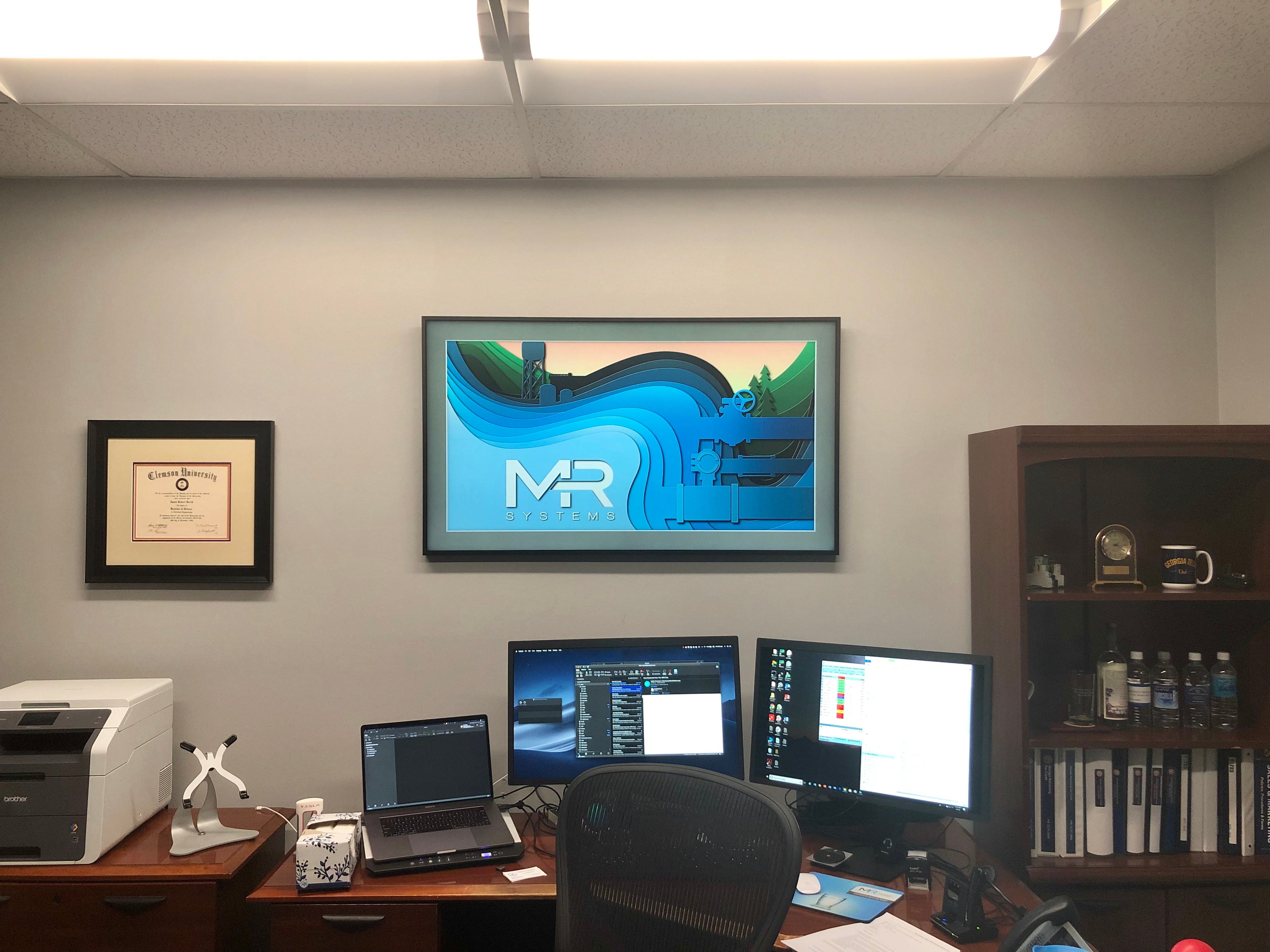 The president of the company liked the initial concept so much he put it on the digital picture frame in his office. How's that for an endorsement?
