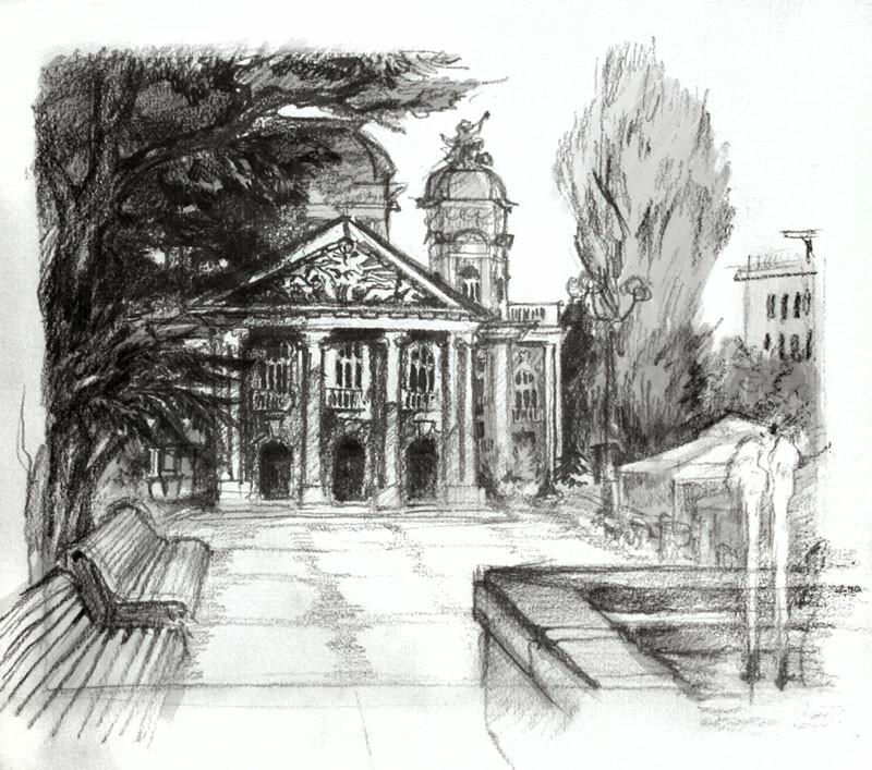 Urban landscape study (Sofia National Theatre)