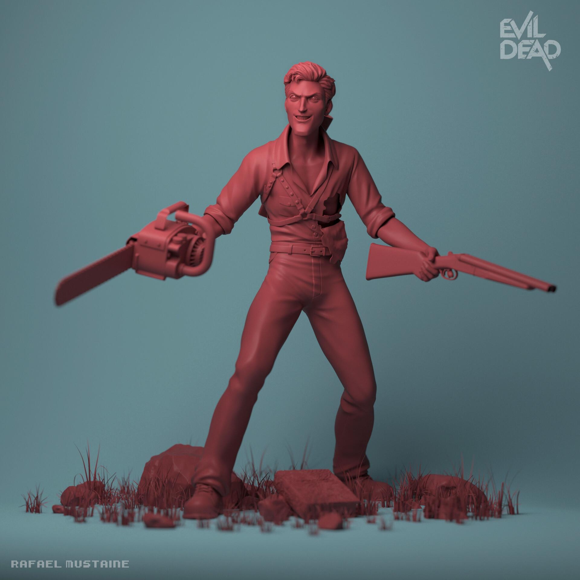 Ash Evil Dead - Render Clay
