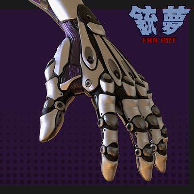 Hong chan lim alita hand render