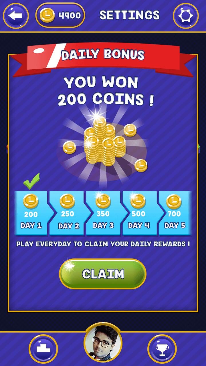 daily bonus poppup
