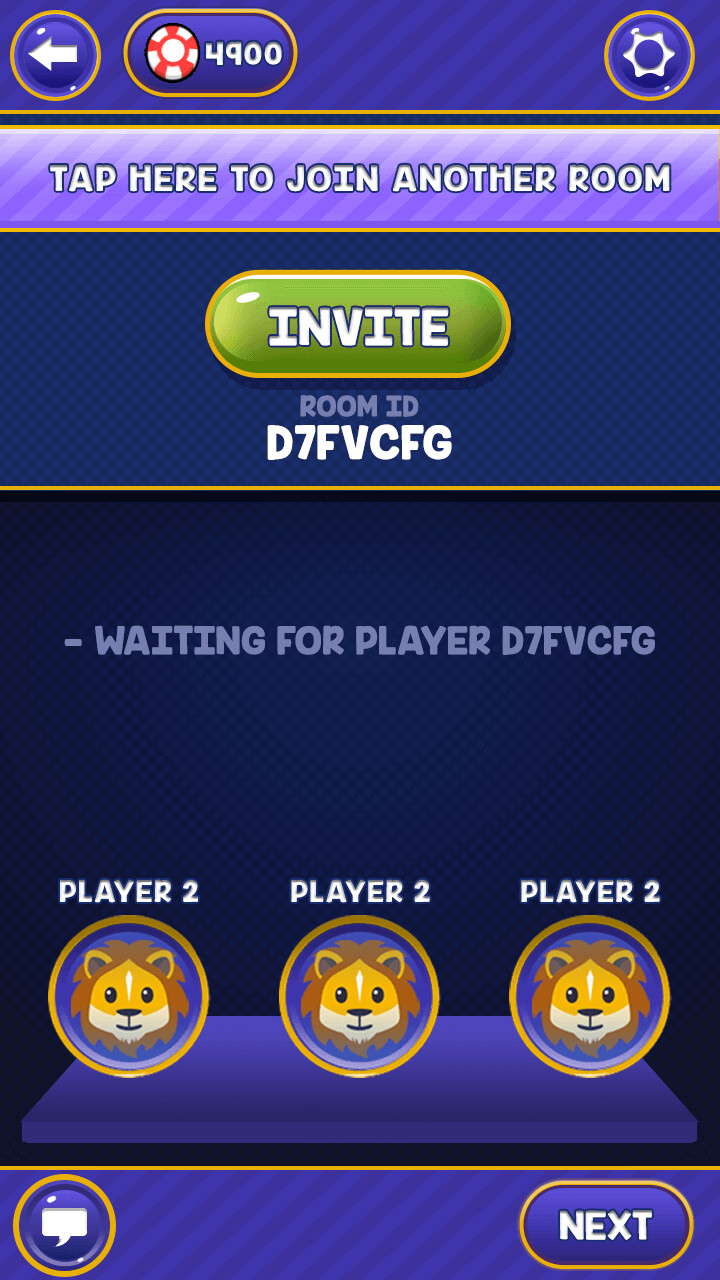 invite friends screen mockup