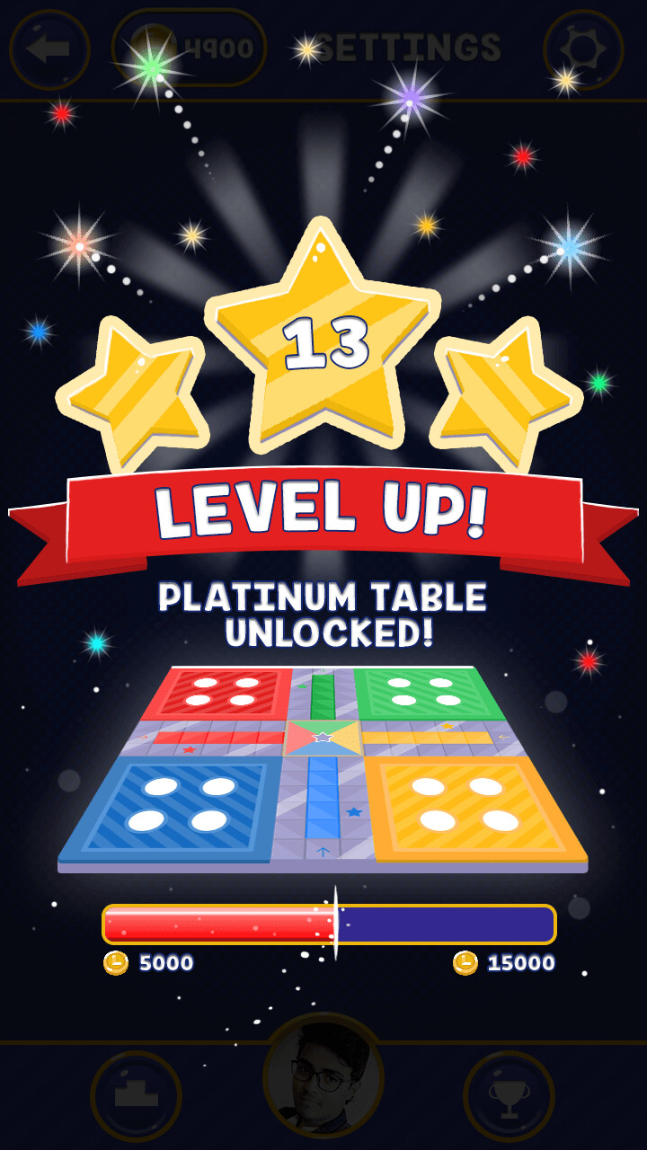 level up screen mockup