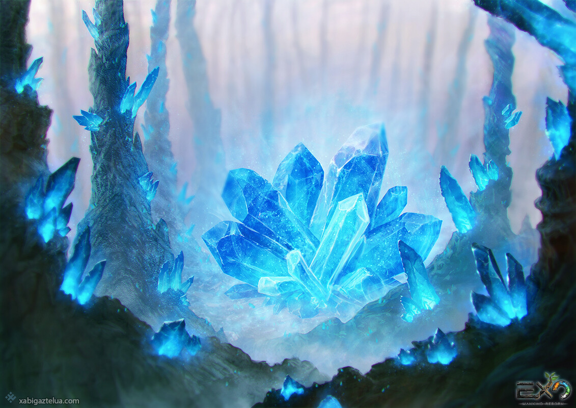 Xabi gaztelua crystal stone forest blue low