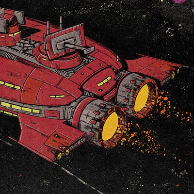 Rebel Communications Ship - Vintage Comic Style