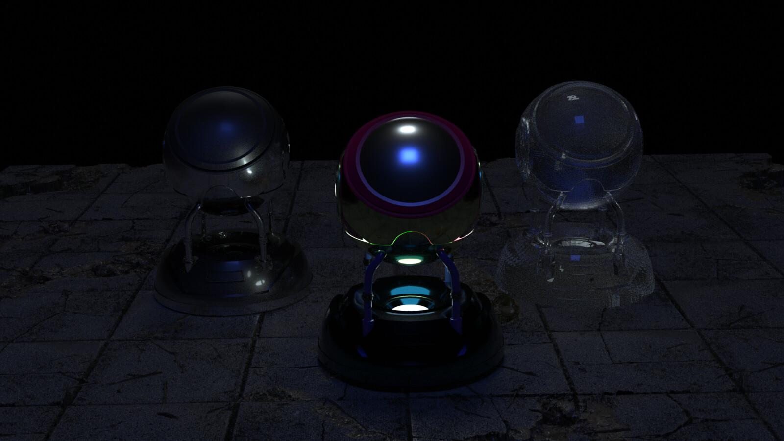 Octane Prime render  Metal / Custom / Specular shaders