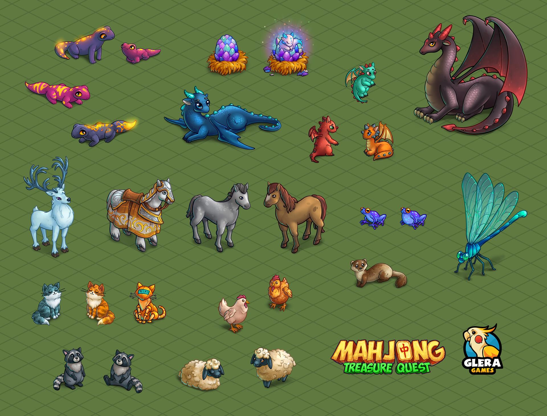ArtStation - Artwork for Mahjong Treasure Quest  Part 2