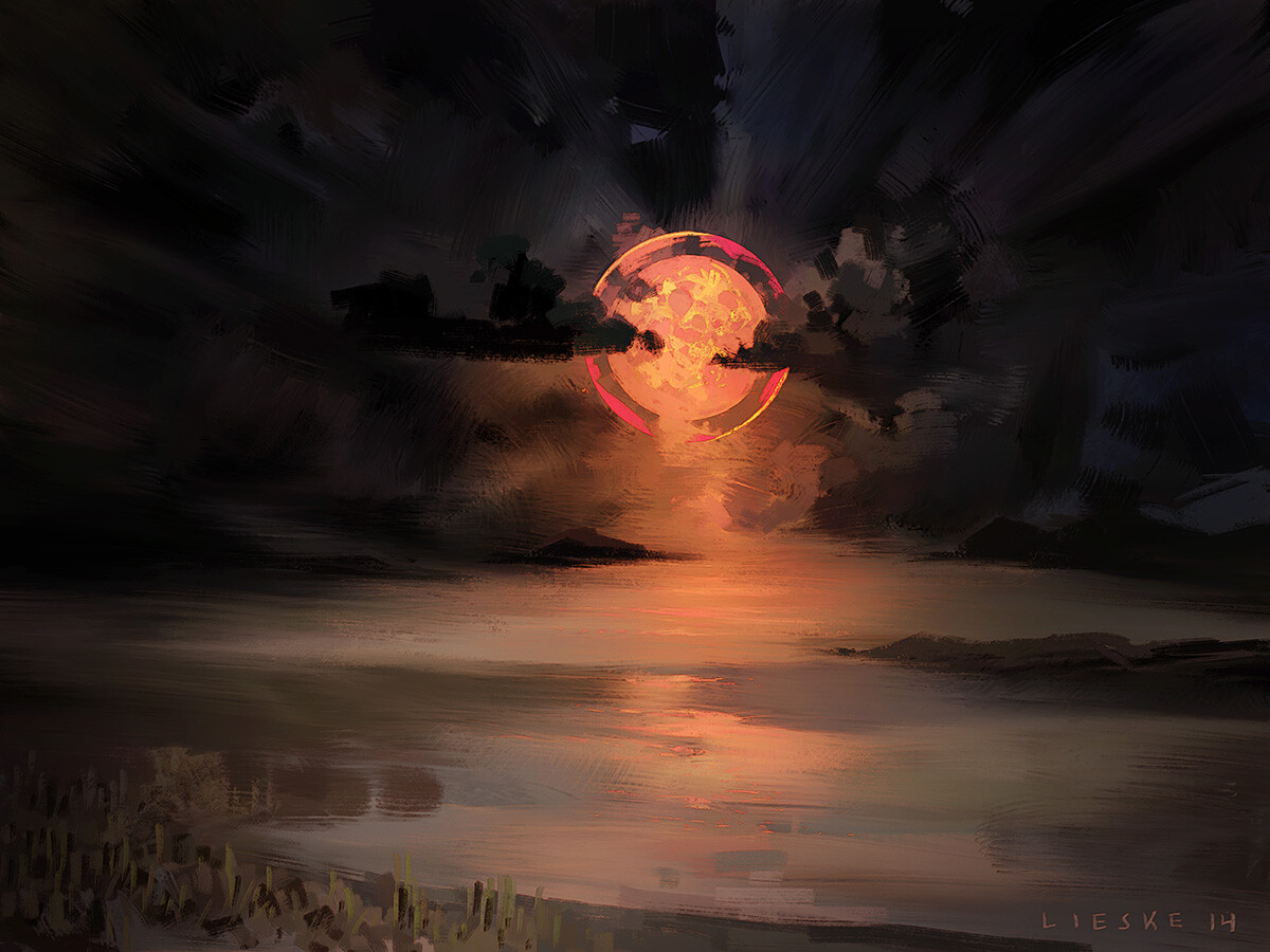 """Distant Moonset"" - 2014"