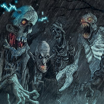 David hartman monsters in the rain by hartman by sideshowmonkey dd7nhga