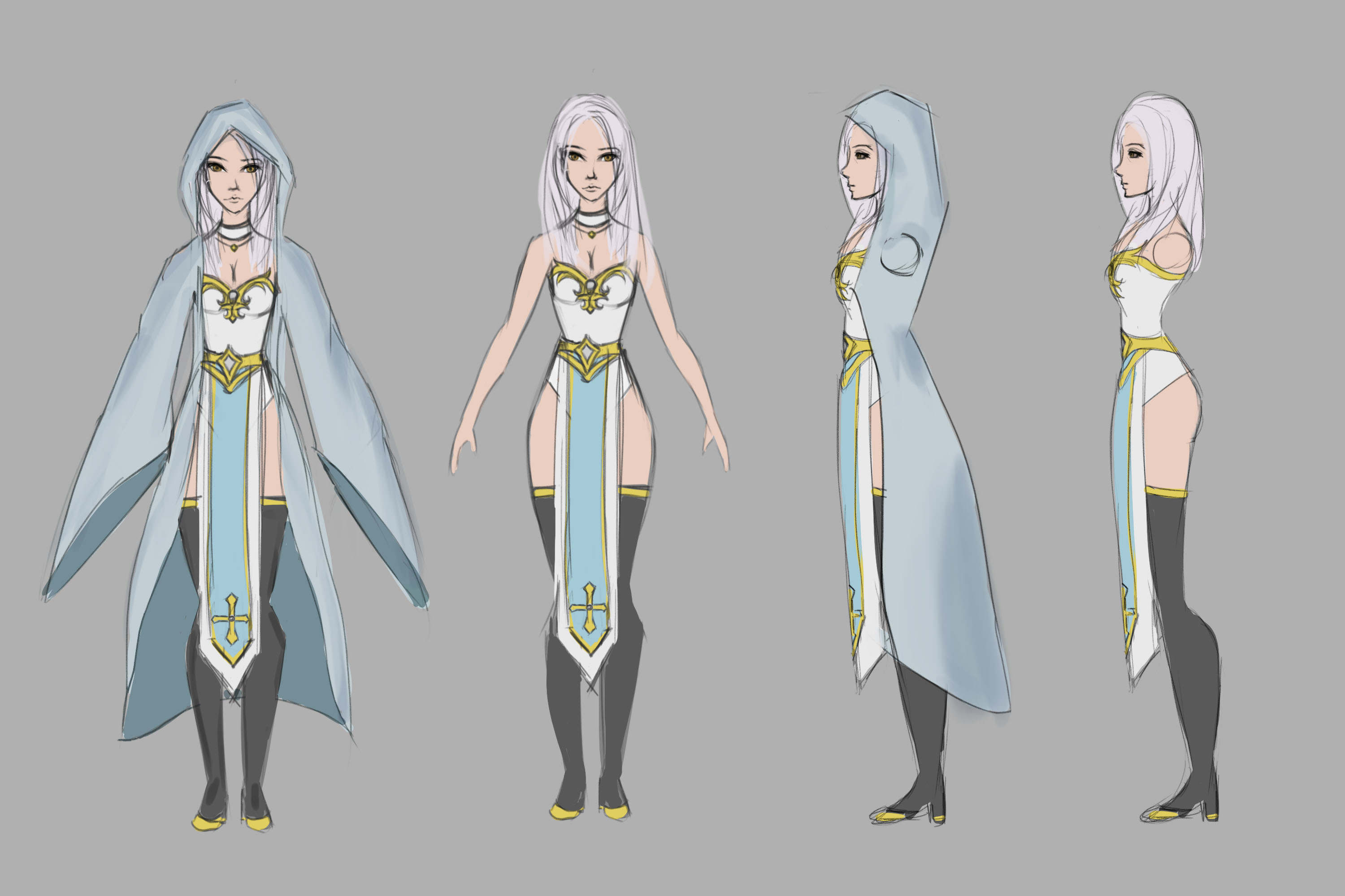 Character Concept Orthographic