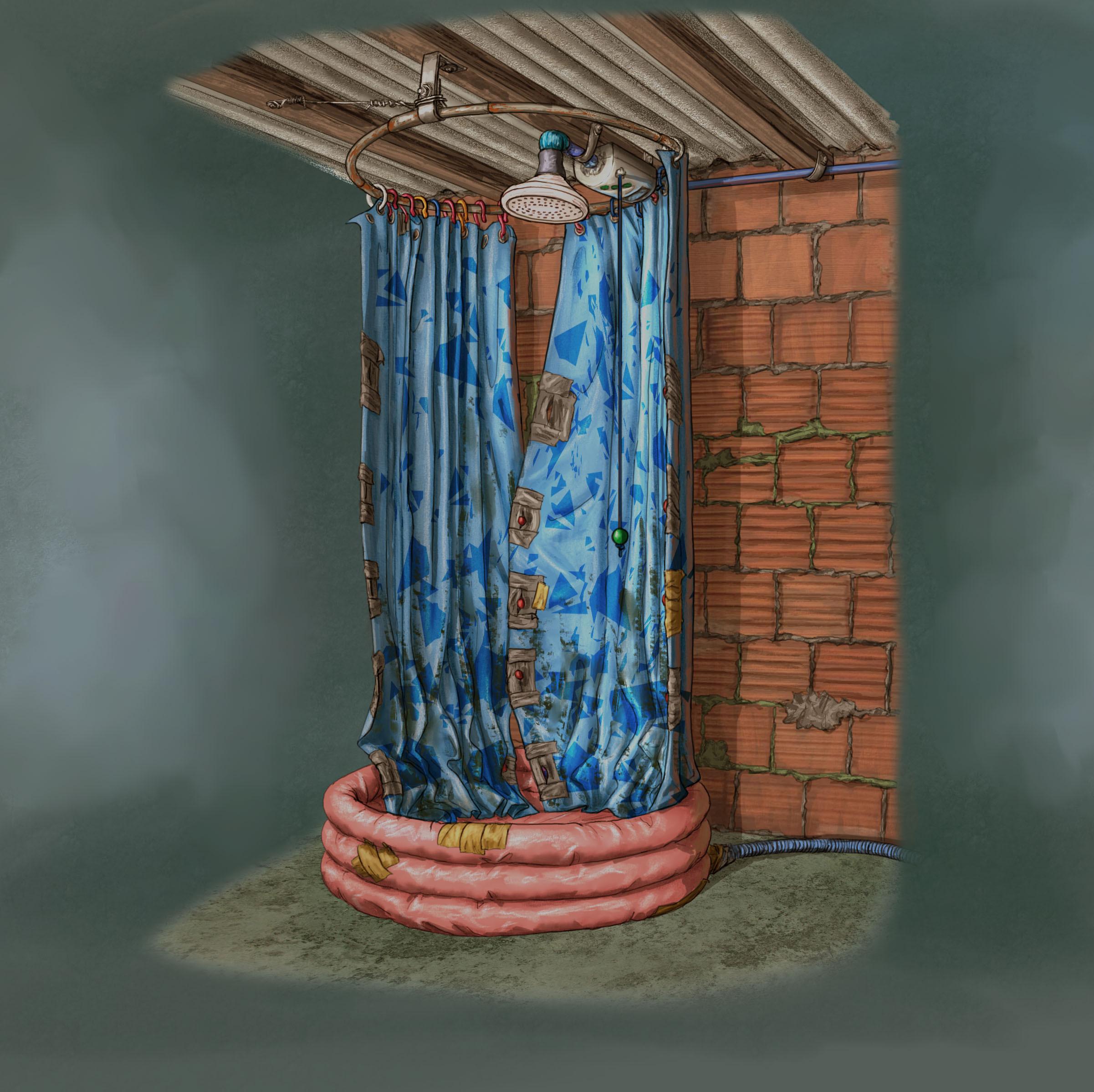 Favela Junk Shower // Design / Drawing / Prop