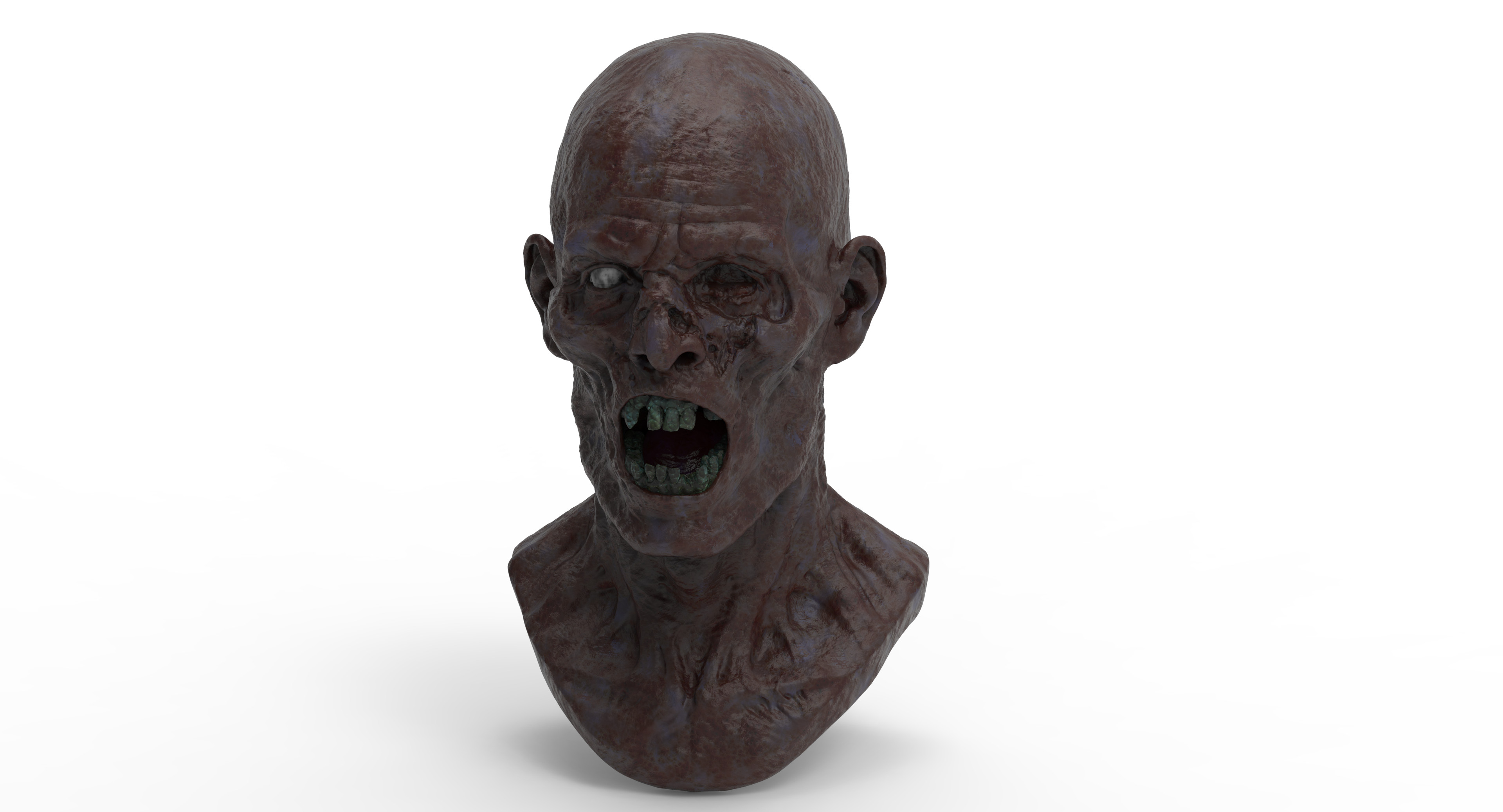 3D render of the male ghost.