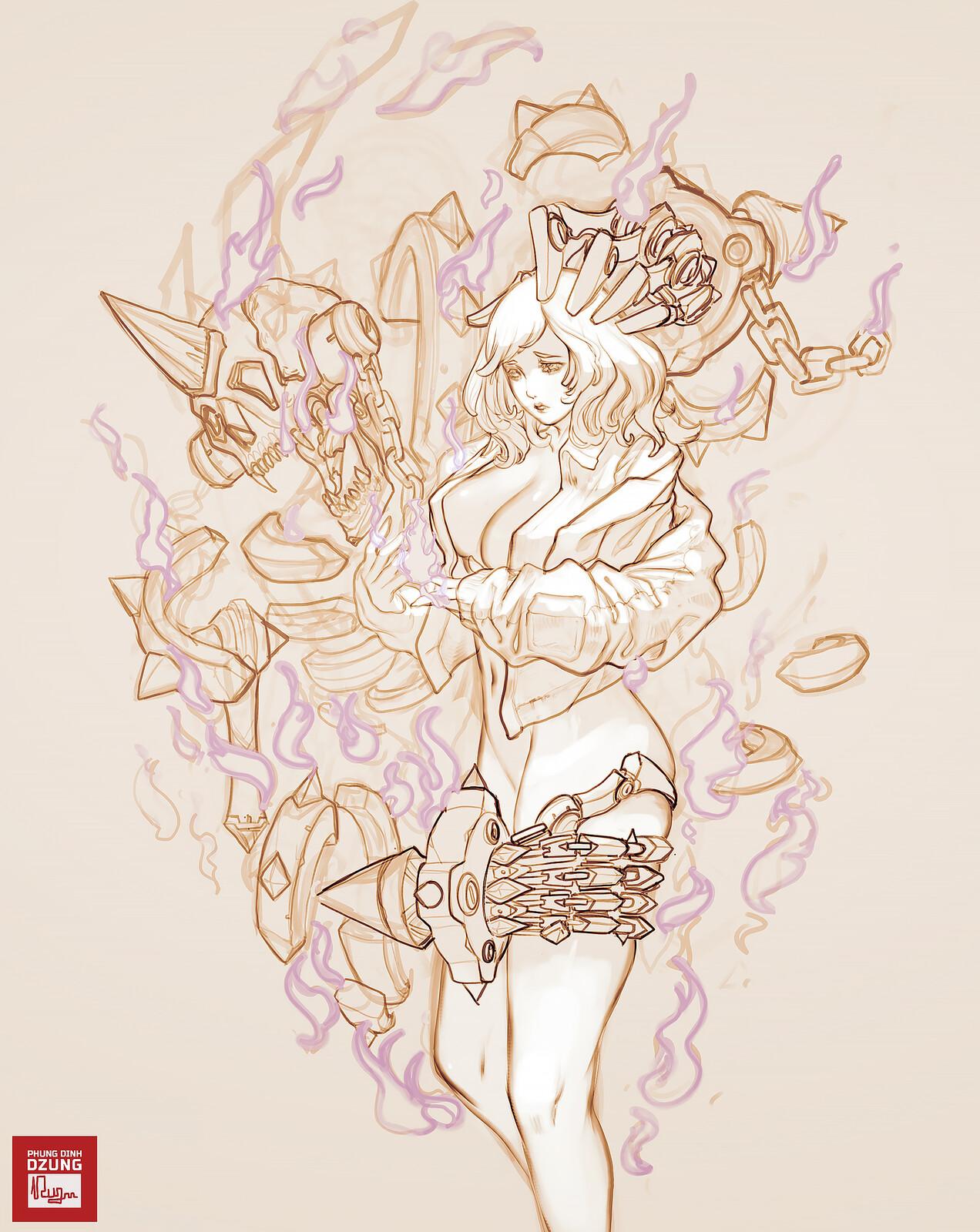 Spelia Sketch