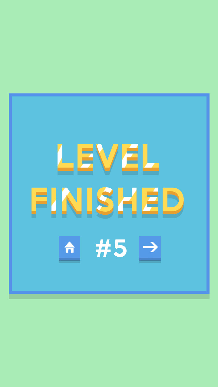 Level finished screen