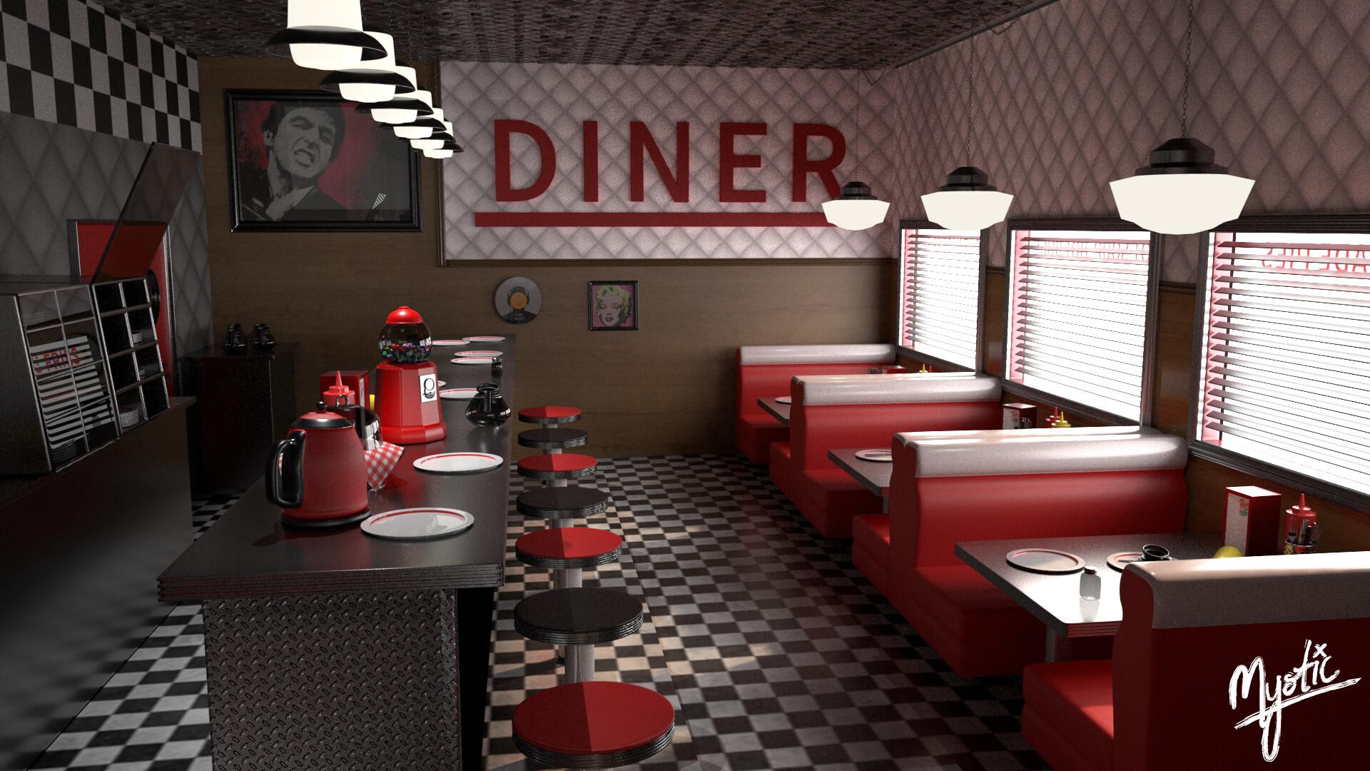 Artstation Riverdale Pop S Diner Project Shomair Hanuk