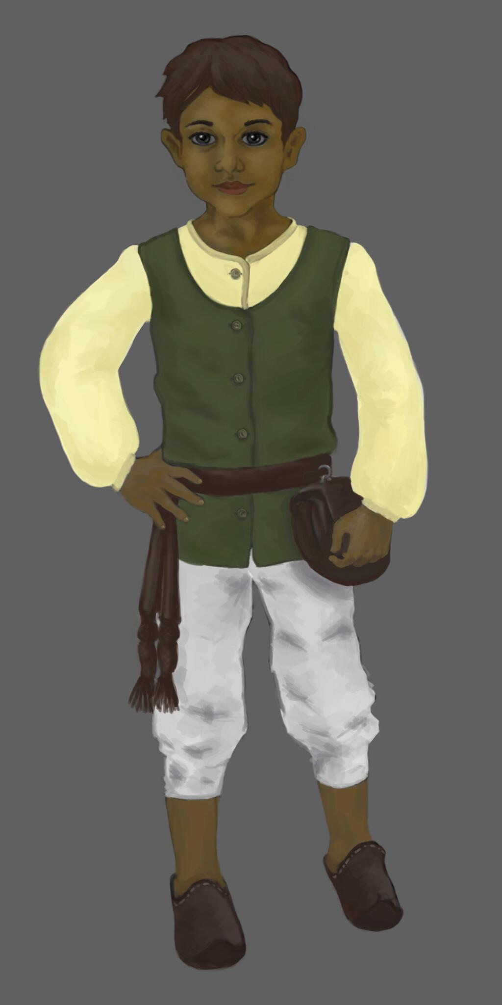 Boy character . digital 2D/Wacom Intuos S
