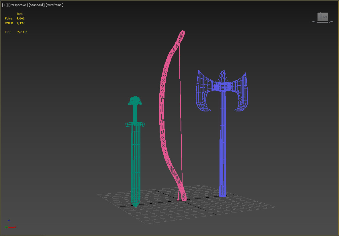 Weapon Wireframes 2
