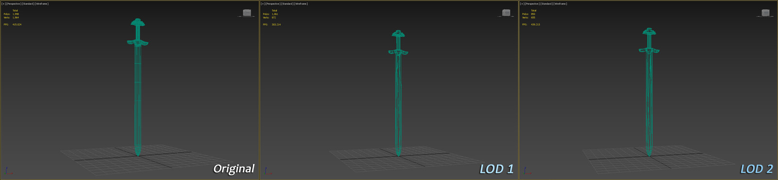 LODs Example (3dsMax)