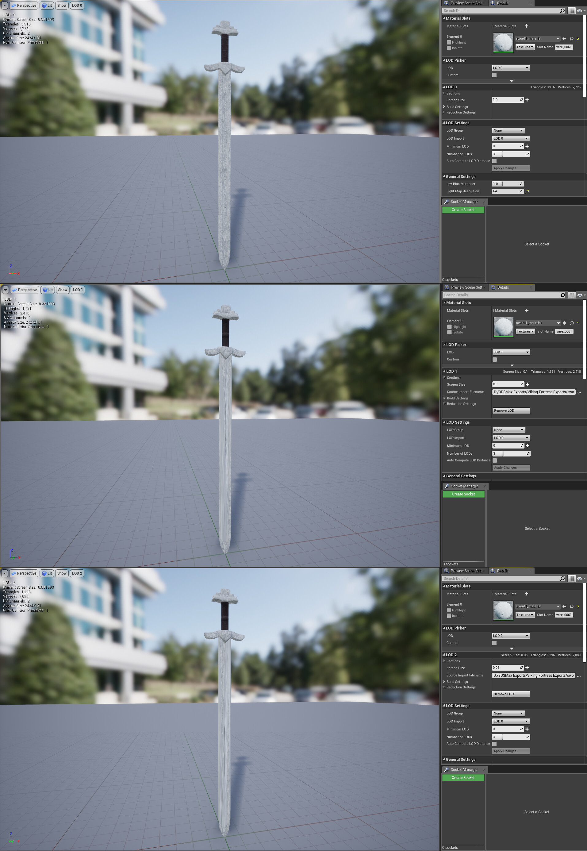 LODs Example (Unreal Engine 4)