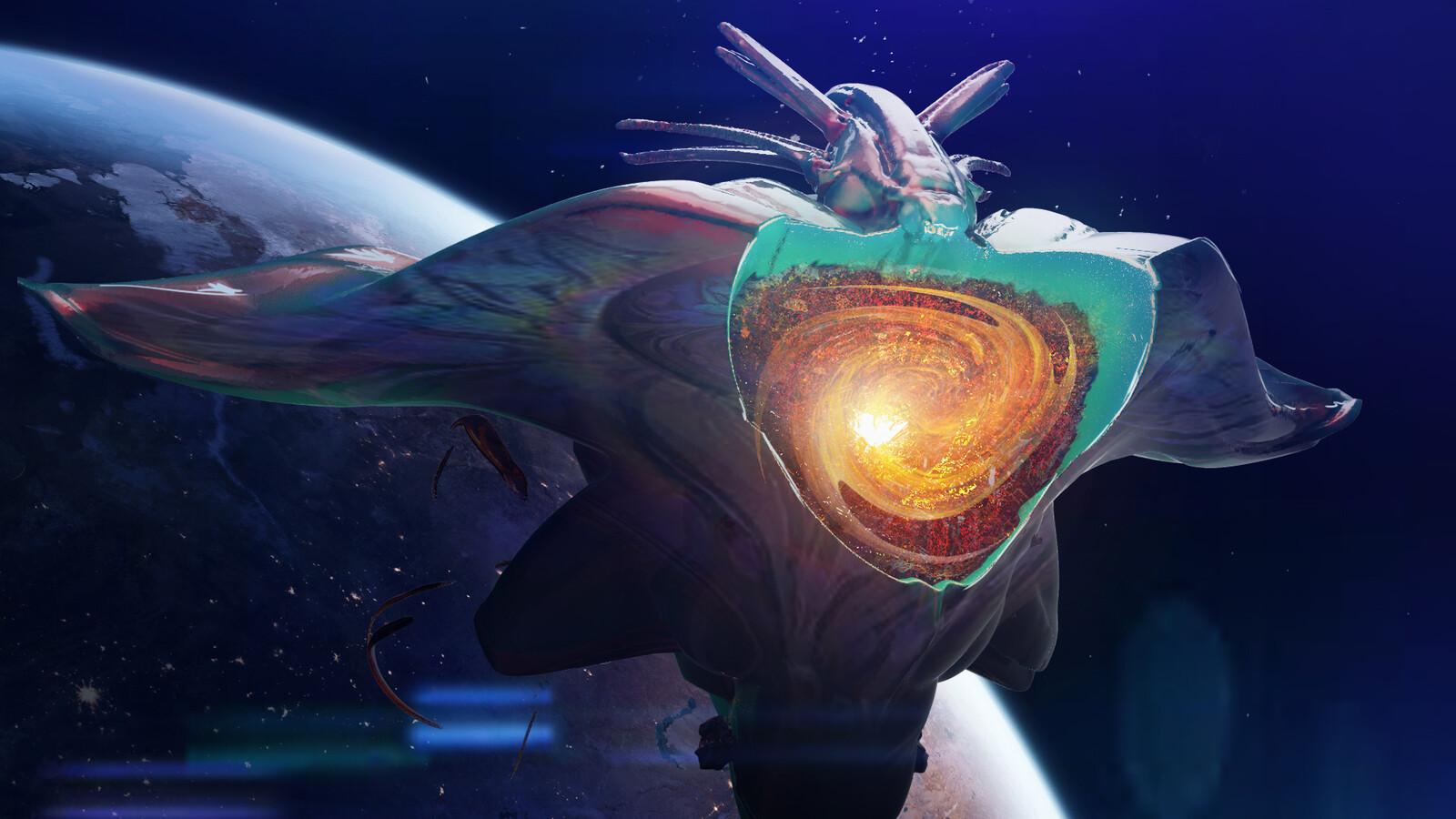 Alien portal ship