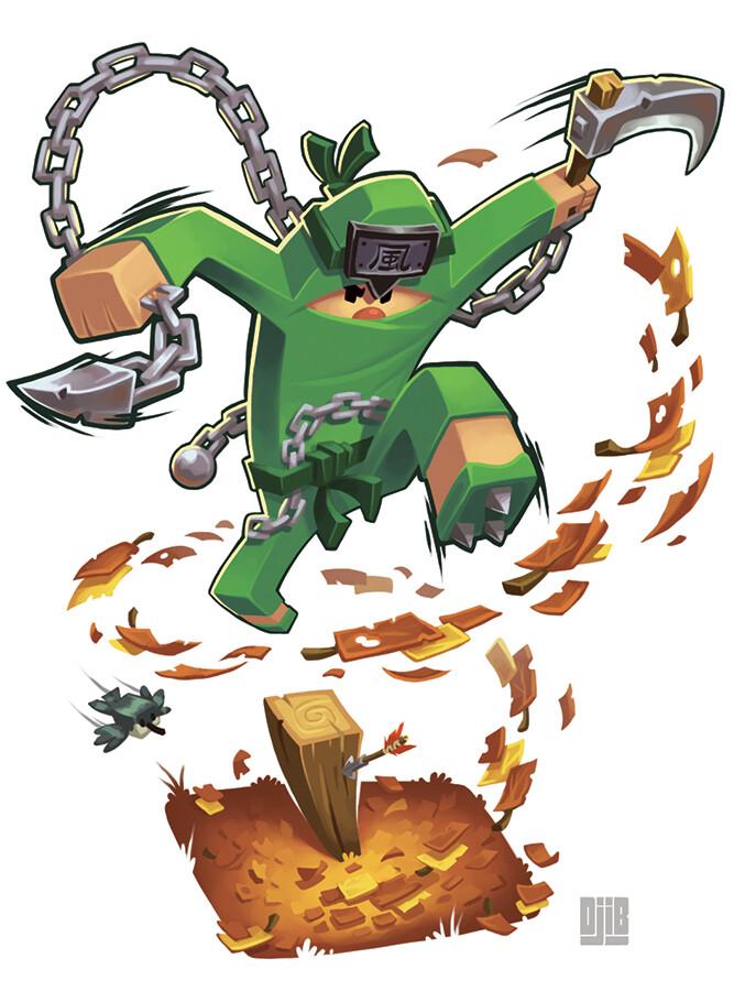 Jean baptiste djib reynaud ninja academy ninja vert