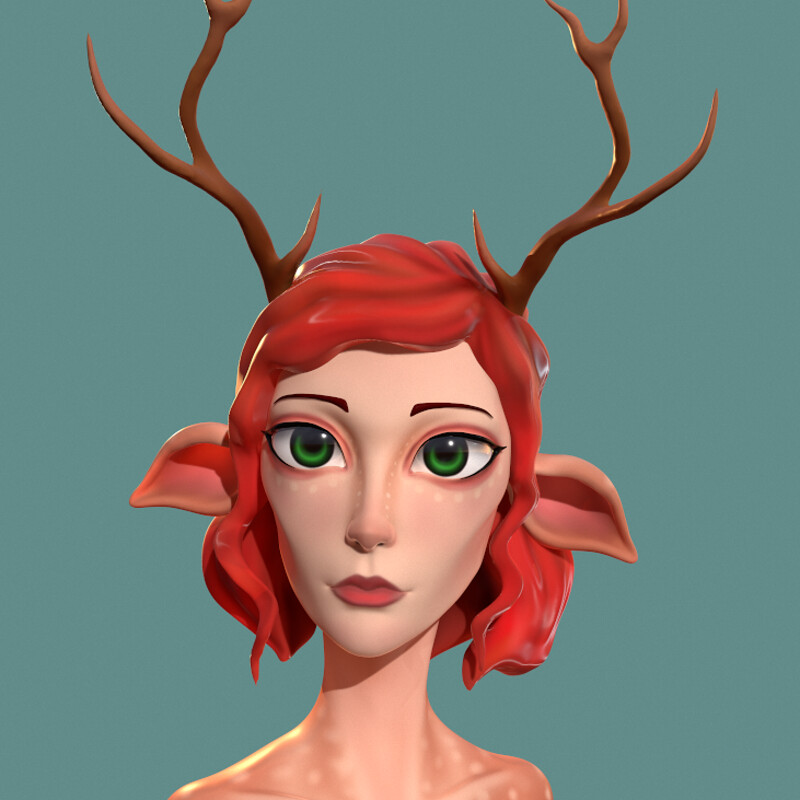 Deer Girl (Speedsculpt)