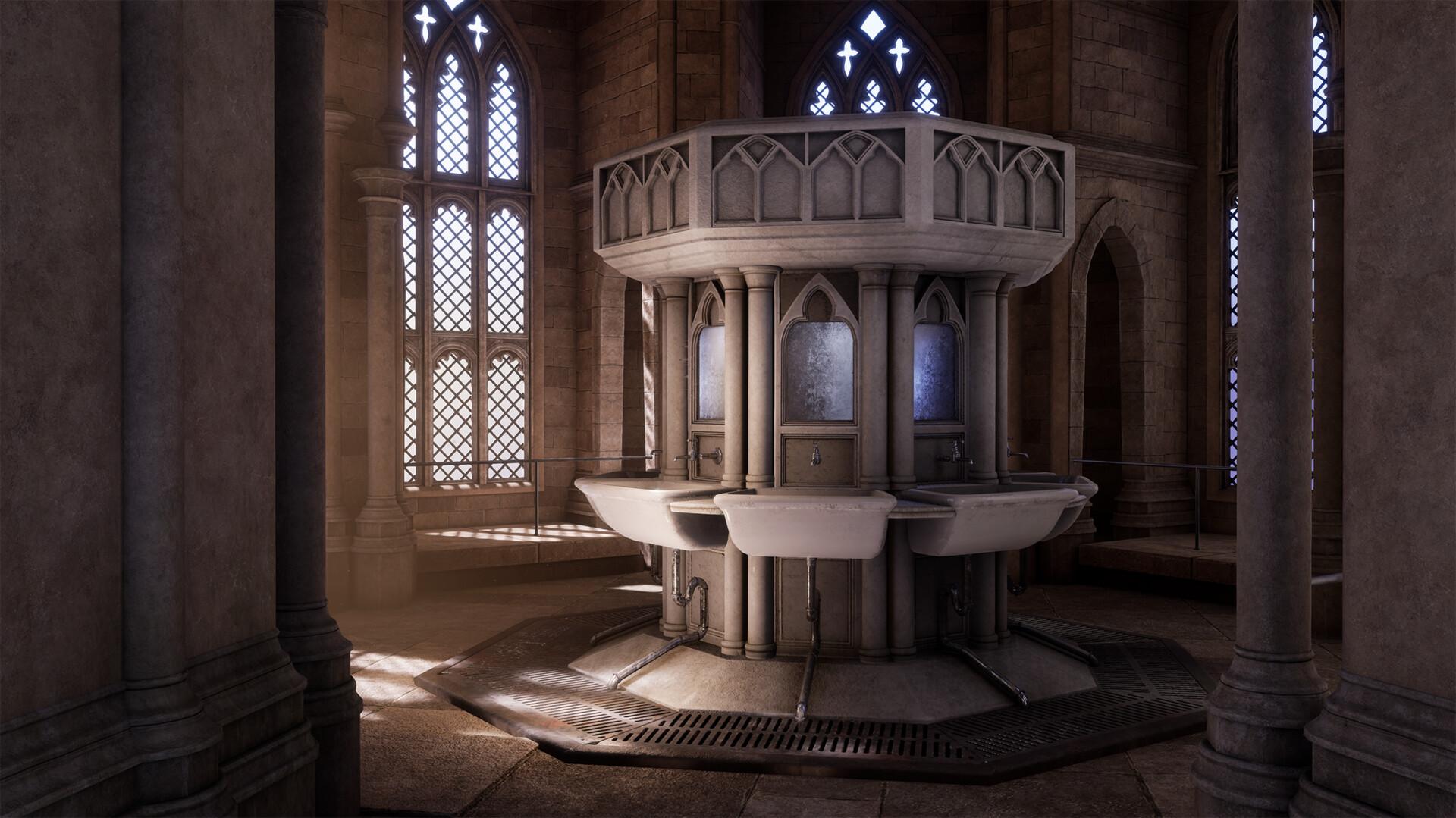 ArtStation - Hogwarts Bathroom , Barbara Klimek