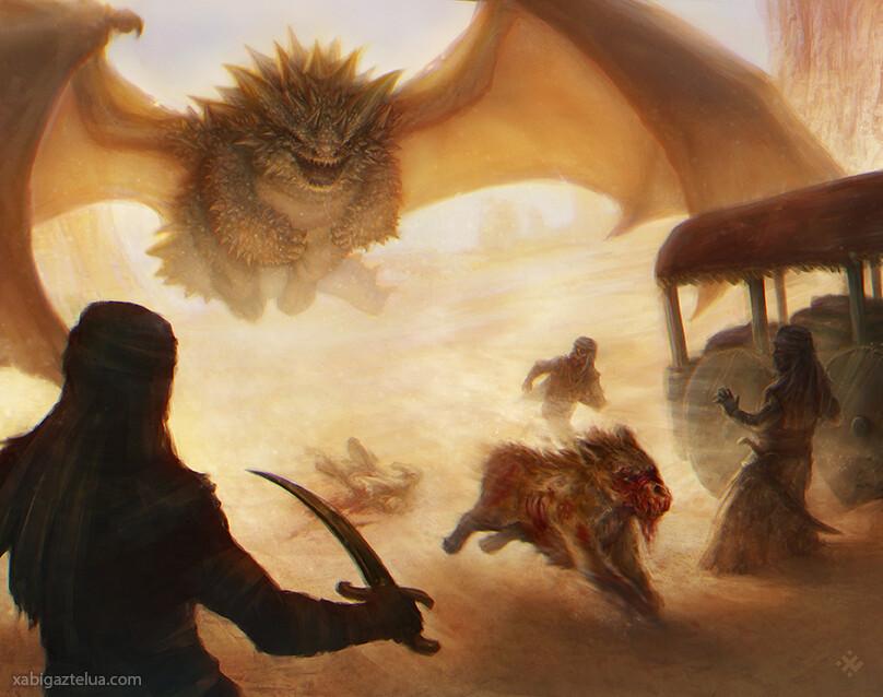 Bestiary - Drake attack
