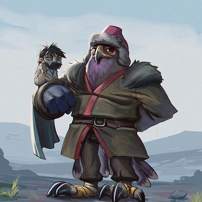 Juanda rico mongolian falconer